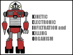 KINETIC ELECTRONIC INFILTRATION and KILLING ORGANISM